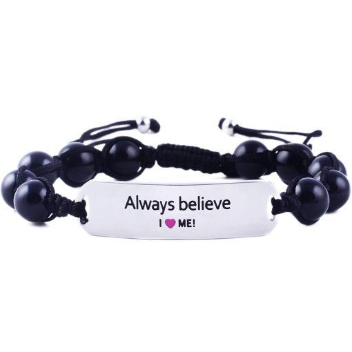 Always Believe - Black Onyx Bracelet