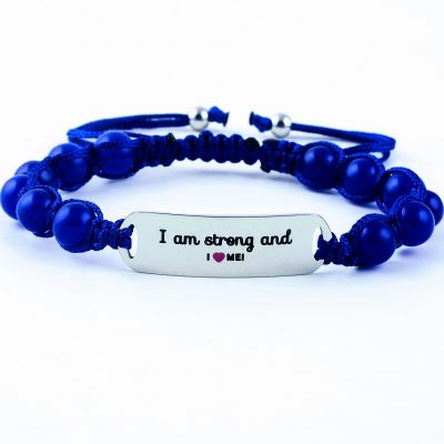 I Am Strong And I Love Me - Marine Blue Lazurite Bracelet
