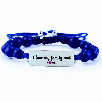 I Love My Family And I Love Me - Marine Blue Lazurite Bracelet
