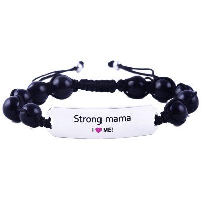 Strong Mama - Black Onyx Bracelet