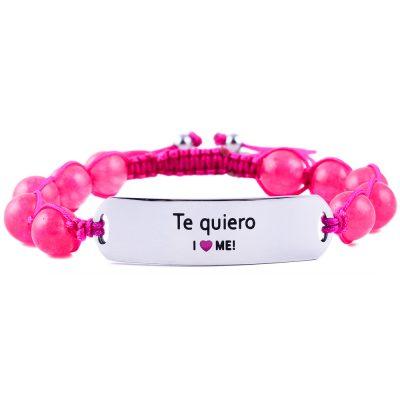 Te quiero - Ruby Pink Jade Bracelet