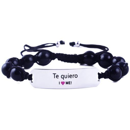 Te quiero - Black Onyx Bracelet