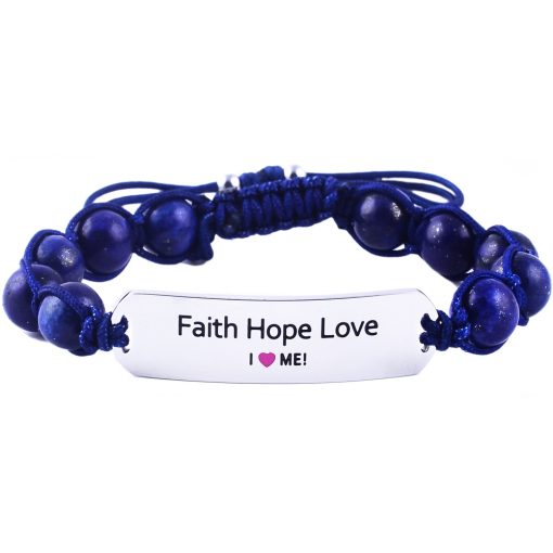 Faith Hope Love - Marine Blue Lazurite Bracelet